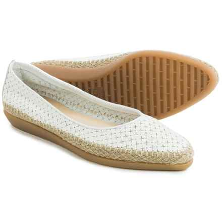 The Flexx Torri Shoes - Leather, Slip-Ons (For Women) in White Guanto Stella - Closeouts