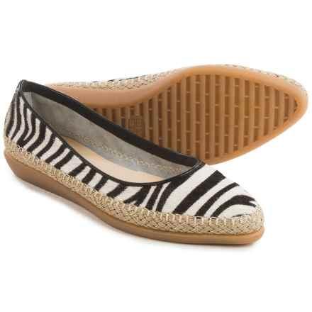 The Flexx Torri Shoes - Leather, Slip-Ons (For Women) in Zebra/Black Cavalino - Closeouts