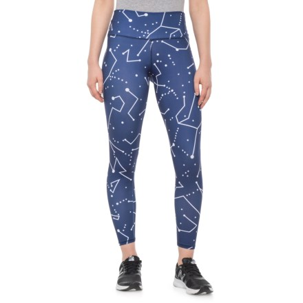 9bcc6840ea1c0 The Free Yoga High-Waist Galaxy Print Yoga Leggings (For Women) in Blue