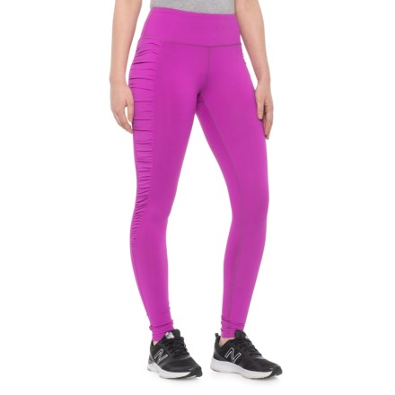 db64cc4e1de75d The Free Yoga Side Ruched Yoga Leggings (For Women) in Magenta
