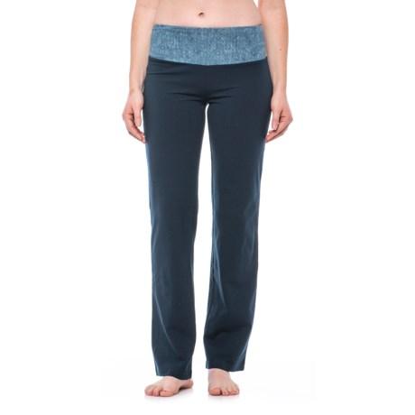 The Girls Printed Waistband Leggings - Straight Leg (For Women) in Indigo Blue