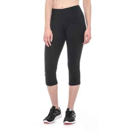 The Girls Solid Capri Leggings (For Women) in Black - Closeouts