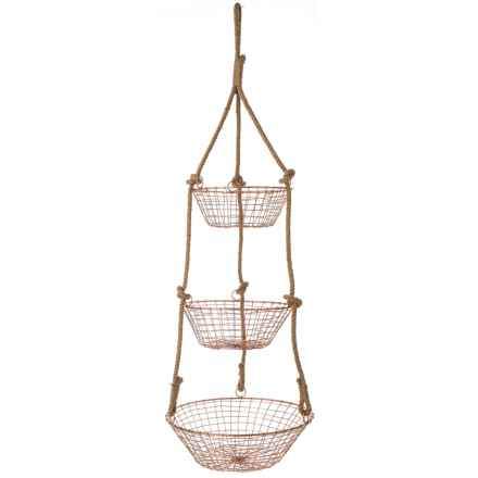 The Global Market Three-Tier Hanging Basket in Multi - Closeouts
