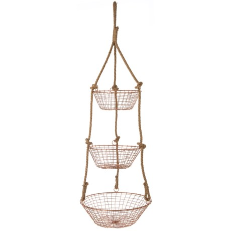 The Global Market Three-Tier Hanging Basket in Multi