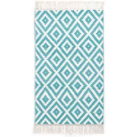 "The Home Company Vogue Blocks Accent Rug - 27x45"" in Ether - Closeouts"