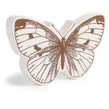 The Homeport Collections Wood Sculpted Butterfly - Large in Large Sepia - Closeouts