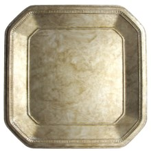 """The Jay Companies Ancient Square Charger Plate - 13"""" in Silver - Overstock"""