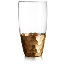 The Jay Companies Daphne Gold Hiball Glasses - Set of 4, 17.6 fl.oz. in Gold - Overstock