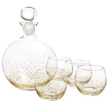 The Jay Companies Gold Luster Decanter Set - 5-Piece in Gold - Overstock