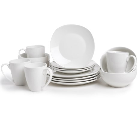 The Jay Companies Waverly Geometry Dinner Set Porcelain, 16 Piece