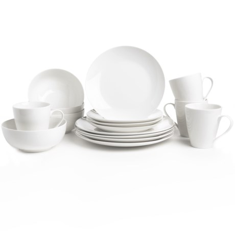 The Jay Companies Zoe Coupe Dinner Set Bone China, 16 Piece