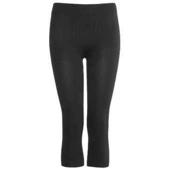 The Mobile Society Angora Plus 3/4 Tights (For Women) in Black