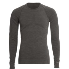 The Mobile Society Lite Base Layer Top - Merino Wool, Long Sleeve (For Men) in Antracite Melange - Closeouts
