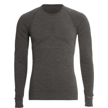 The Mobile Society Lite Base Layer Top - Merino Wool, Long Sleeve (For Men) in Antracite Melange
