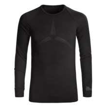 The Mobile Society Lite Base Layer Top - Merino Wool, Long Sleeve (For Men) in Black - Closeouts