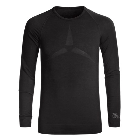 The Mobile Society Lite Base Layer Top - Merino Wool, Long Sleeve (For Men) in Black