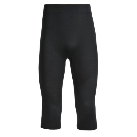 The Mobile Society Merino Lite Base Layer Tights - 3/4 Length (For Men) in Black