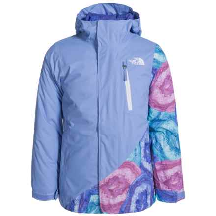 The North Face Abbey Triclimate® 3-in-1 Jacket - Waterproof, Insulated (For Little and Big Girls) in Grapemist Blue - Closeouts