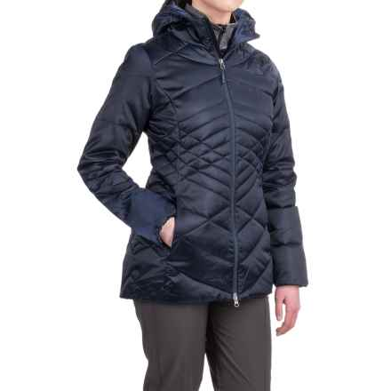 The North Face Aconcagua Down Hooded Parka - 550 Fill Power (For Women) in Cosmic Blue - Closeouts