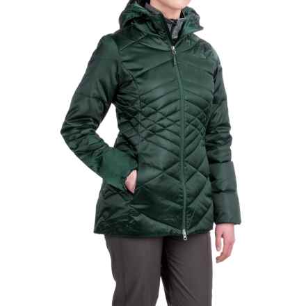 The North Face Aconcagua Down Hooded Parka - 550 Fill Power (For Women) in Darkest Spruce - Closeouts