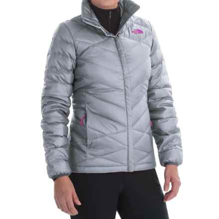 The North Face Aconcagua Down Jacket - 550 Fill Power (For Women) in Mid Grey/Luminous Pink - Closeouts