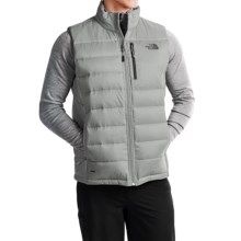The North Face Aconcagua Down Vest - 550 Fill Power (For Men) in High Rise Grey/Asphalt Grey - Closeouts