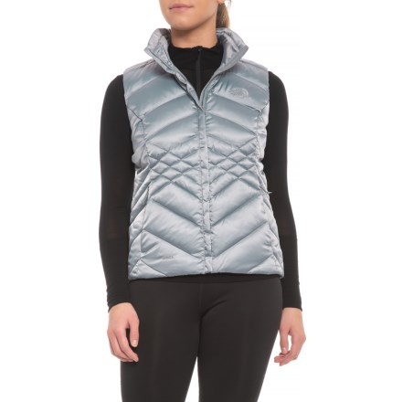e7ced3c2c28 The North Face Aconcagua Down Vest - Insulated (For Women) in Mid Grey -