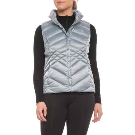 The North Face Aconcagua Down Vest - Insulated (For Women) in Mid Grey - Closeouts