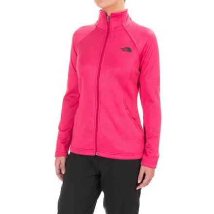 The North Face Agave Fleece Jacket (For Women) in Cerise Pink Heather - Closeouts