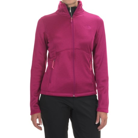 The North Face Agave Fleece Jacket (For Women) in Fuchsia Pink Heather/Asphalt Grey