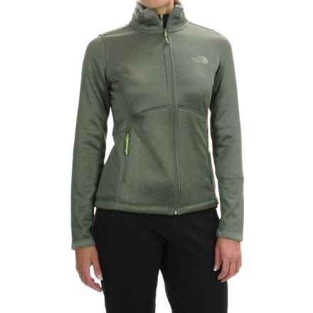 The North Face Agave Fleece Jacket (For Women) in Laurel Wreath Green Heather - Closeouts
