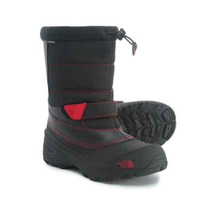The North Face Alpenglow Extreme II Pac Boots - Waterproof, Insulated (For Little and Big Kids) in Tnf Black/Tnf Red - Closeouts