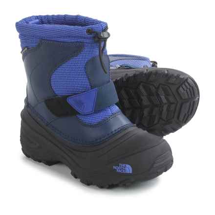 The North Face Alpenglow II Snow Boots - Waterproof, Insulated (For Little and Big Kids) in Inauguration Blue/Cosmic Blue - Closeouts