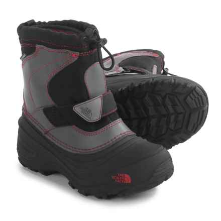The North Face Alpenglow II Snow Boots - Waterproof, Insulated (For Little and Big Kids) in Tnf Black/Tnf Red - Closeouts