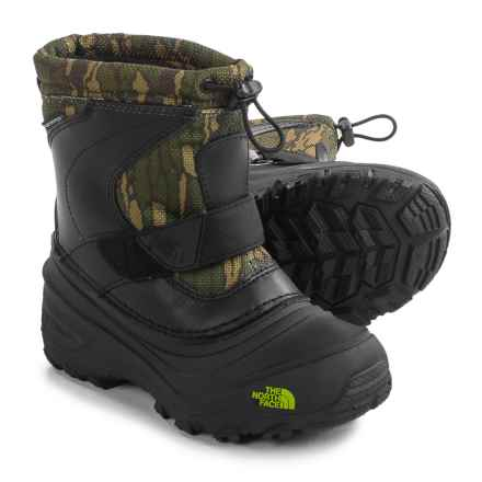 The North Face Alpenglow II Snow Boots - Waterproof, Insulated (For Little and Big Kids) in Tnf Black/Tree Bark Camo - Closeouts