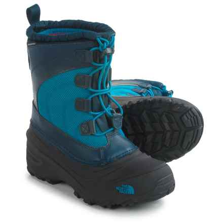 The North Face Alpenglow IV Snow Boots - Waterproof, Insulated (For Little and Big Kids) in Cosmic Blue/Blue Aster - Closeouts