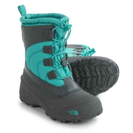 The North Face Alpenglow IV Snow Boots - Waterproof, Insulated (For Little and Big Kids) in Dark Shadow Grey/Ion Blue - Closeouts