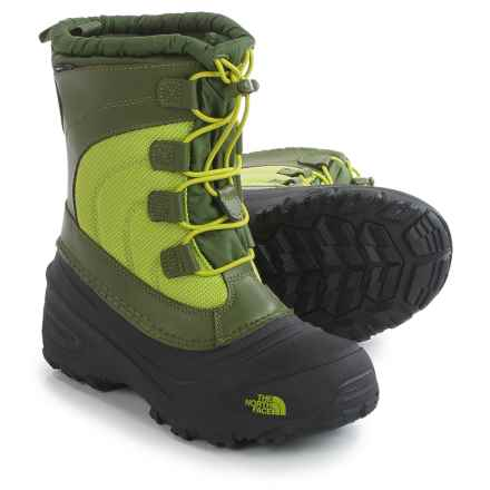 The North Face Alpenglow IV Snow Boots - Waterproof, Insulated (For Little and Big Kids) in Terrarium Green/Lime Green - Closeouts