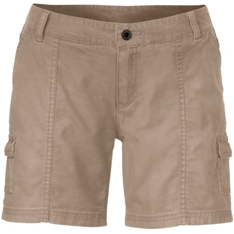 The North Face Amanda Shorts - Stretch Cotton (For Women) in Dune Beige