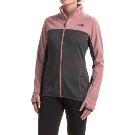 The North Face Amazie Mays Fleece Jacket (For Women) in Tnf Dark Grey Heather (Std)/Nostalgia Rose - Closeouts