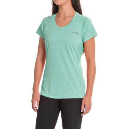 The North Face Ambition Shirt - Short Sleeve (For Women) in Agate Green Heather - Closeouts