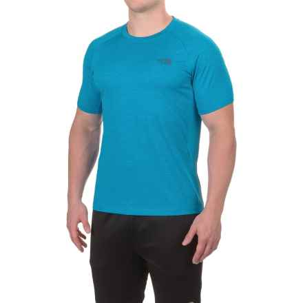 The North Face Ambition Shirt - UPF 30+, Short Sleeve (For Men) in Blue Aster Heather/Blue Aster - Closeouts