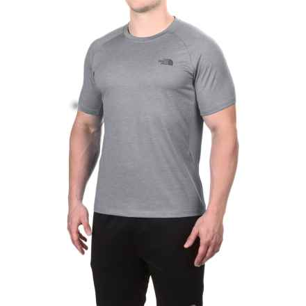 The North Face Ambition Shirt - UPF 30+, Short Sleeve (For Men) in Tnf Medium Grey Heather - Closeouts