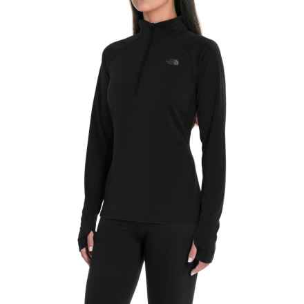 The North Face Ambition Shirt - Zip Neck, Long Sleeve (For Women) in Tnf Black - Closeouts