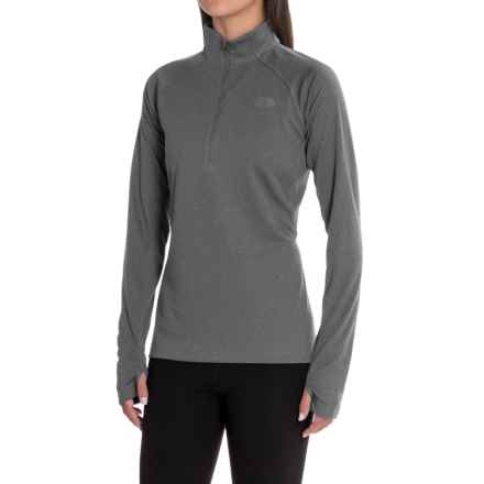 The North Face Ambition Shirt - Zip Neck, Long Sleeve (For Women) in Tnf Dark Grey Heather - Closeouts