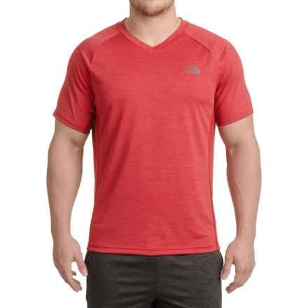 The North Face Ambition T-Shirt - V-Neck, Short Sleeve (For Men) in Cardinal Red - Closeouts