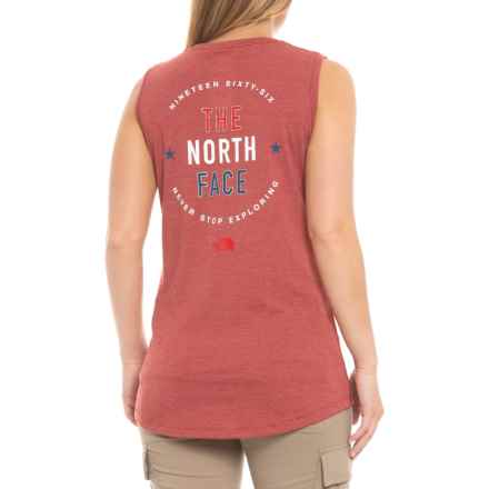 ef8e5ac4f10e6 The North Face Americana Track Tank Top (For Women) in Cardinalred Heather  - Closeouts