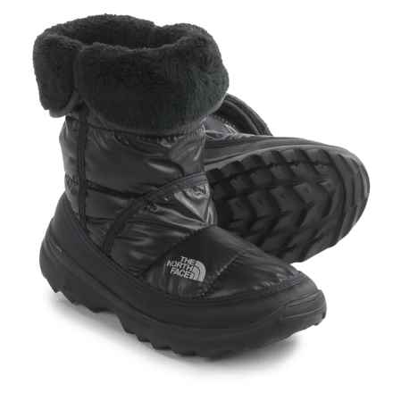 The North Face Amore Boots - Insulated (For Little and Big Girls) in Shiny Tnf Black/Tnf Black - Closeouts