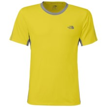 The North Face Ampere Crew Shirt - Short Sleeve (For Men) in Acid Yellow/Monument Grey - Closeouts
