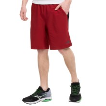 The North Face Ampere Dual Shorts - Built-in Boxer Briefs (For Men) in Biking Red/Tnf Black - Closeouts